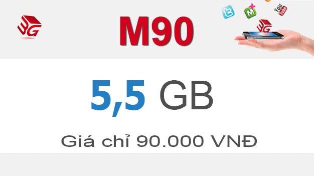 Gói M90 Mobifone nhận ngay 5,5GB giá 90.000đ