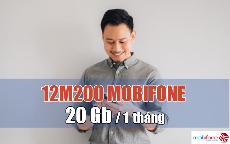 Đăng ký gói 12M200 Mobifone có ngay 20GB/tháng xài thả ga