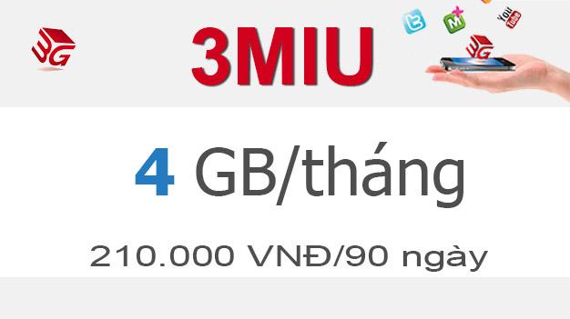 Đăng ký gói cước 3MIU Mobifone có ngay 4GB giá chỉ