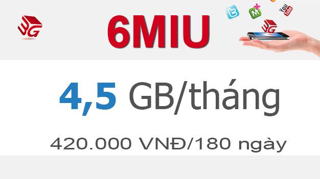 Đăng ký gói cước 6MIU Mobifone có ngay 4,5GB giá chỉ 420.000đ