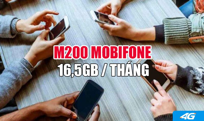 Gói M200 Mobifone ưu đãi khủng 16,5GB/tháng
