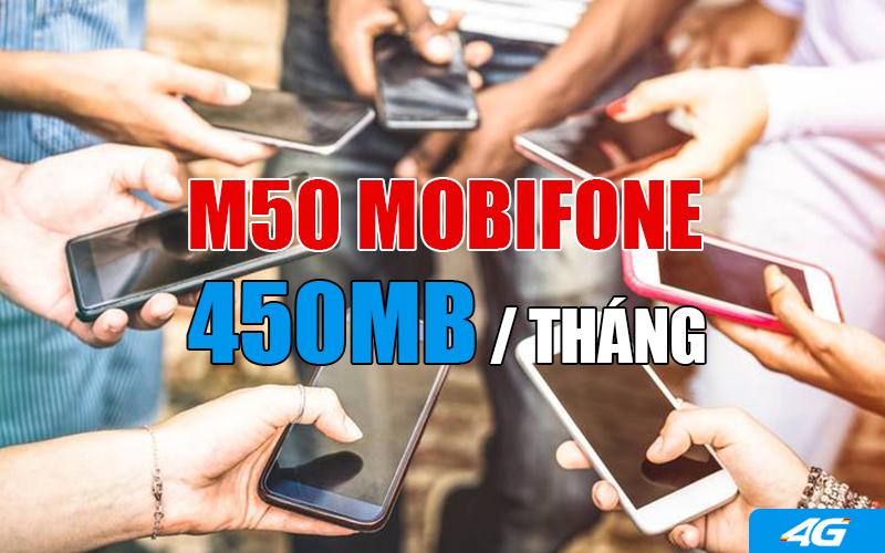 Đăng ký gói M50 Mobifone nhận 450MB truy cập 3G thoải mái