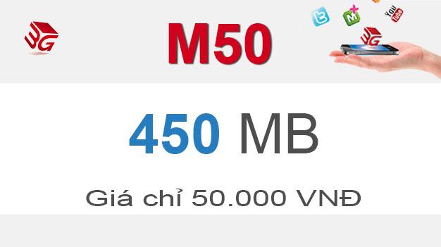 Gói M50 Mobifone có ngay 450 MB giá chỉ 50.000đ