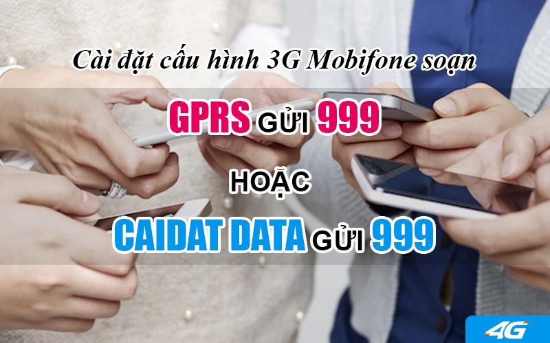 Cài đặt cấu hình 3G Mobifone bằng tin nhắn