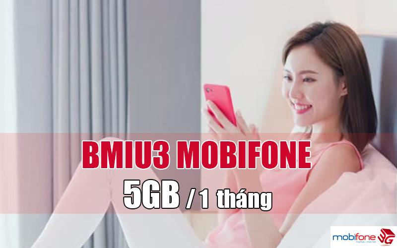 Đăng ký gói BMIU3 Mobifone ưu đãi 5GB Data tốc độ cao, thả ga truy cập internet