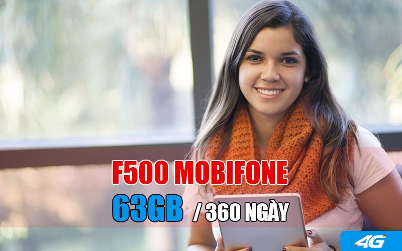 Đăng ký gói F500 Mobifone xài 3G cả năm