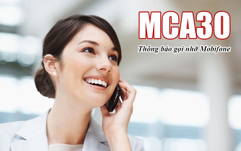 MCA30 Mobifone thông báo cuộc gọi nhỡ