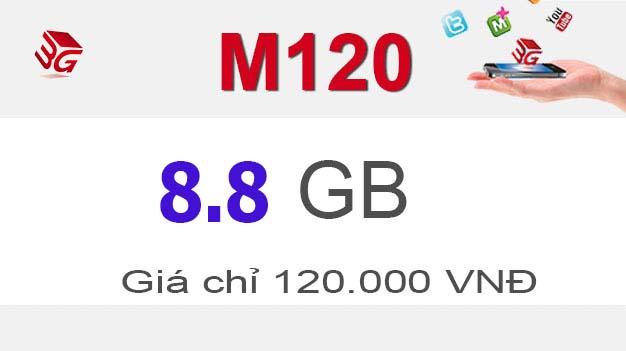 Đăng ký gói M120 Mobifone nhận ngay 3GB giá 120.000đ