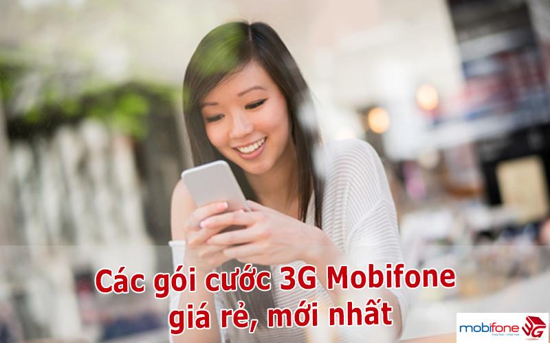 Bảng giá các gói cước 3G Mobifone giá rẻ, mới nhất
