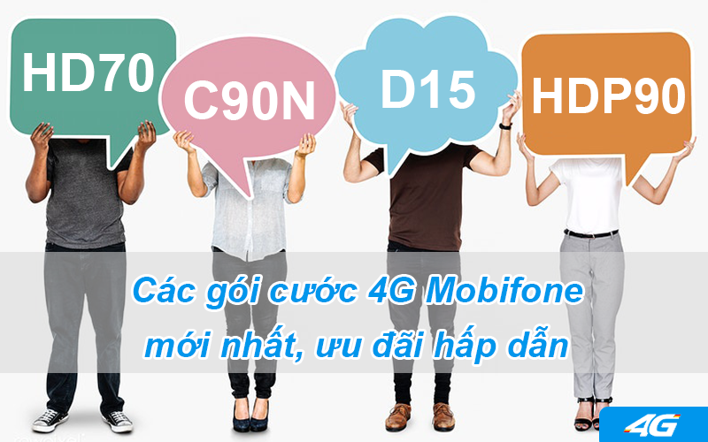 Các gói cước 4G Mobifone mới nhất, ưu đãi hấp dẫn