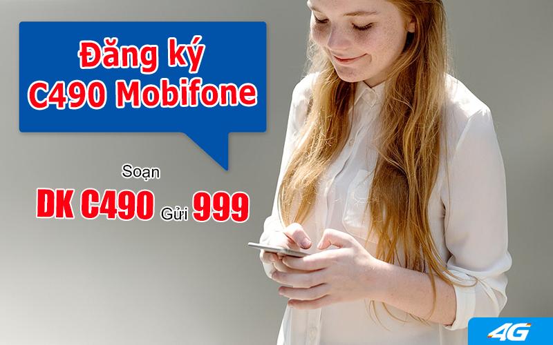 Đăng ký gói cước C490 Mobifone dễ dàng bằng tin nhắn
