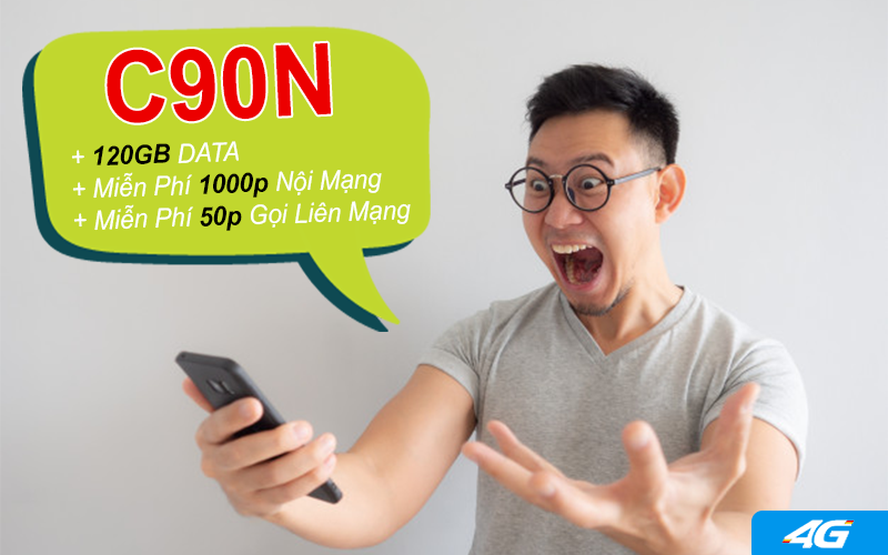 Đăng ký gói C90N Mobifone nhận ưu đãi khủng