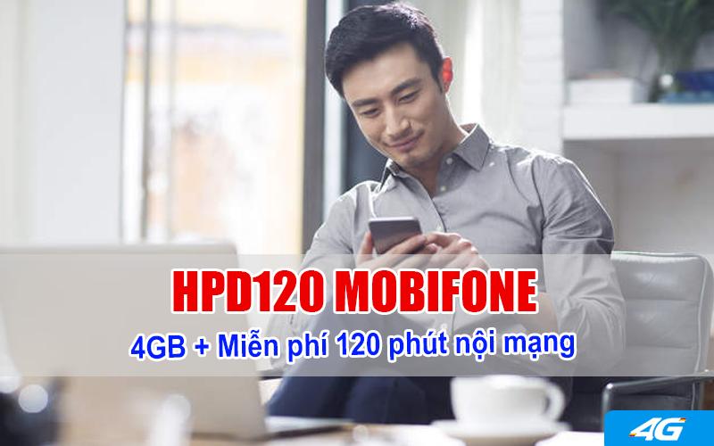 đăng ký gói HDP120 Mobifone ưu đãi 4GB + 120 phút nội mạng