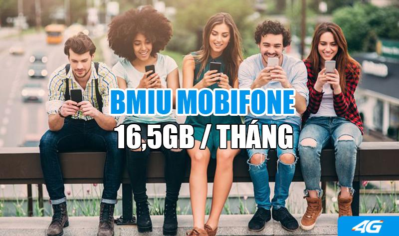 Gói Bmiu Mobifone ưu đãi 16,5GB trọn gói chỉ 200.000đ