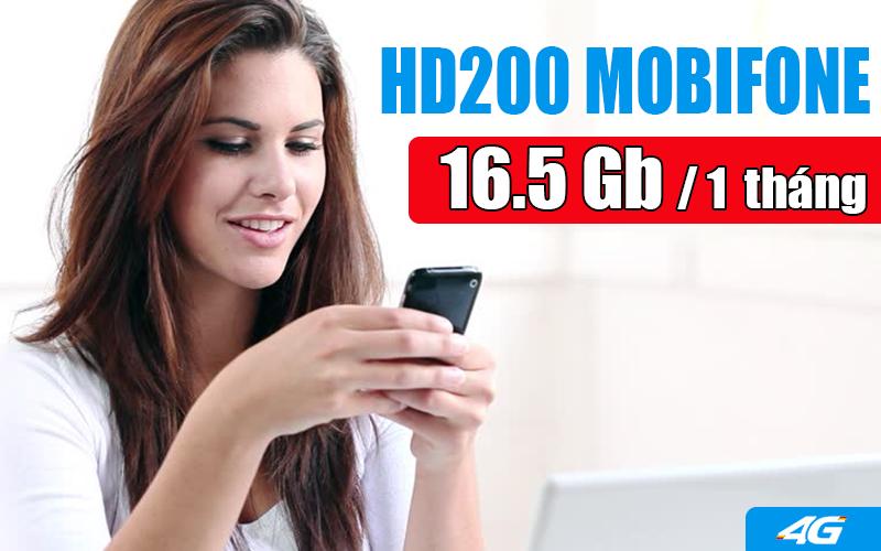 Đăng ký gói HD200 Mobifone để nhận 16.5GB Data tốc độ cao