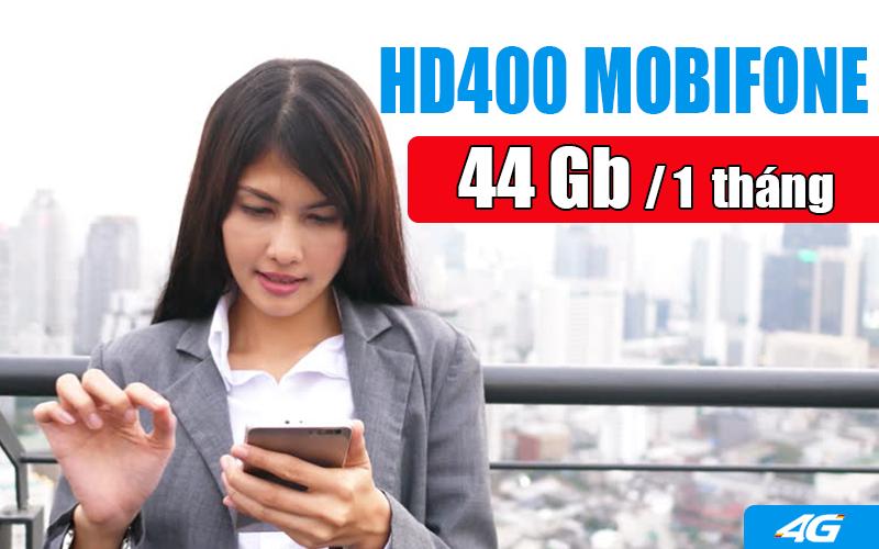 Gói HD400 Mobifone ưu đãi khủng 44GB 1 tháng