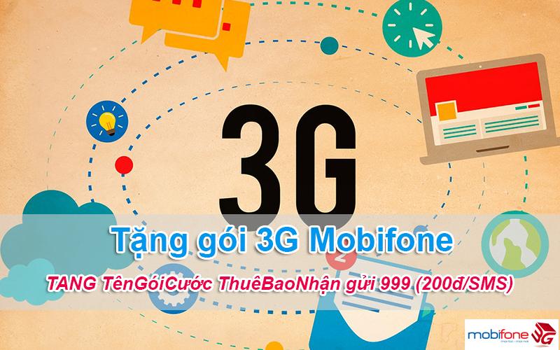 tặng gói cước 3G Mobifone cho thuê bao khác bằng tin nhắn