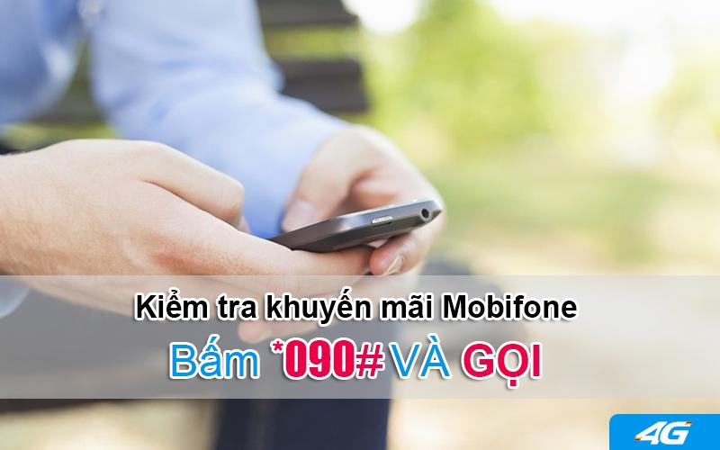 Thao tác phím kiểm tra khuyến mãi của Mobifonedành cho thuê bao đang dùng