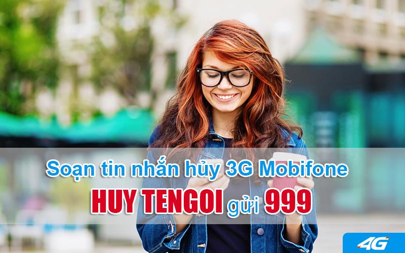 Cách hủy 3G Mobifone bằng tin nhắn gửi 999