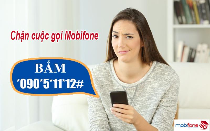 Đăng ký chặn cuộc gọi Mobifone bằng thao tác phím